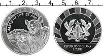Изображение Монеты Гана 5 седи 2020 Серебро Proof Медведь