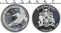 Изображение Монеты Барбадос 1 доллар 2021 Серебро Proof