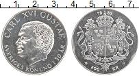 Изображение Монеты Швеция 200 крон 1983 Серебро UNC- 10 лет правления Кар