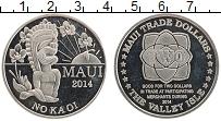 Изображение Монеты Гавайские острова 2 доллара 2014 Медно-никель UNC Остров Мауи. Торговы