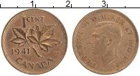 Изображение Монеты Канада 1 цент 1941 Бронза XF Георг VI