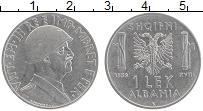 Изображение Монеты Албания 1 лек 1939 Железо XF Витторио Эммануил II