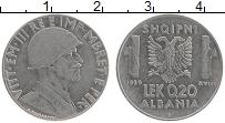 Изображение Монеты Албания 0,2 лек 1939 Железо XF Витторио Эммануил II