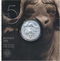 Изображение Подарочные монеты ЮАР 5 ранд 2021 Серебро UNC Монета посвящена одн