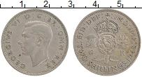 Изображение Монеты Великобритания 2 шиллинга 1948 Медно-никель XF Георг VI