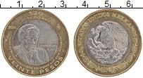 Изображение Монеты Мексика 20 песо 2010 Биметалл UNC- 20 лет присуждения Н