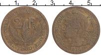 Изображение Монеты Того 2 франка 1924 Латунь XF