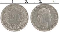 Изображение Монеты Швейцария 20 рапп 1987 Медно-никель XF