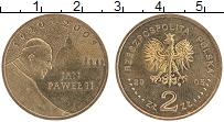 Изображение Монеты Польша 2 злотых 2005 Латунь UNC- Иоанн Павел II