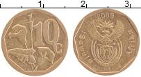 Изображение Монеты ЮАР 10 центов 2009 Латунь XF