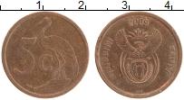 Изображение Монеты ЮАР 5 центов 2009 Бронза XF