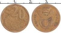 Изображение Монеты ЮАР 20 центов 2004 Латунь XF