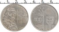 Изображение Монеты Португалия 100 эскудо 1990 Медно-никель XF Камилу Каштелу Бранк