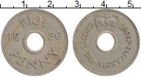 Изображение Монеты Фиджи 1 пенни 1956 Медно-никель XF Елизавета II