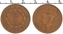 Изображение Монеты Белиз 1 цент 1950 Бронза XF Британский Гондурас.