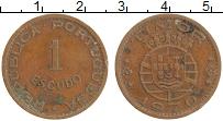 Изображение Монеты Тимор 1 эскудо 1970 Бронза XF Португальская колони