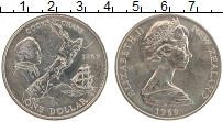 Изображение Монеты Новая Зеландия 1 доллар 1969 Медно-никель UNC- Джеймс Кук