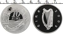 Изображение Монеты Ирландия 10 евро 2009 Серебро Proof Банкноты Ирландии 80
