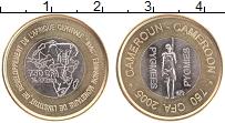 Изображение Монеты Камерун 750 франков 2005 Биметалл UNC- Пигмеи