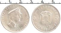 Изображение Монеты Филиппины 50 сентаво 1947 Серебро UNC- Генерал Макартур