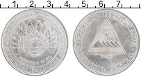 Изображение Монеты Никарагуа 100 кордобас 1975 Серебро UNC- Землетрясение в Мана