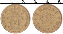 Изображение Монеты Дания 1 крона 1939 Бронза XF Кристиан X