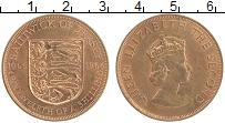 Изображение Монеты Остров Джерси 1/12 шиллинга 1966 Бронза XF Елизавета II. 900 ле