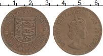 Изображение Монеты Остров Джерси 1/12 шиллинга 1960 Бронза XF Елизавета II. 300 ле
