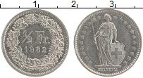Изображение Монеты Швейцария 1/2 франка 1982 Медно-никель XF