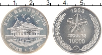 Изображение Монеты Южная Корея 10000 вон 1983 Серебро UNC XXIV Летние Олимпийс