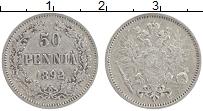 Изображение Монеты 1881 – 1894 Александр III 50 пенни 1892 Серебро XF L