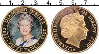 Изображение Монеты Остров Джерси 50 пенсов 2012 Позолота Proof- Цифровая печать. 60