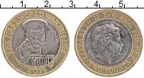 Изображение Монеты Великобритания 2 фунта 2014 Биметалл XF 100 лет ПМВ.Елизавет
