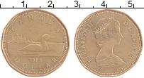 Изображение Монеты Канада 1 доллар 1988 Бронза XF Елизавета II. Гагара