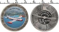 Изображение Монеты Испания 1,5 евро 2020 Медно-никель UNC История авиации