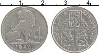Изображение Монеты Бельгия 1 франк 1940 Медно-никель XF Лев