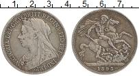 Изображение Монеты Великобритания 1 крона 1893 Серебро VF Виктория