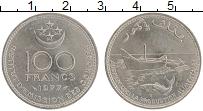 Изображение Монеты Коморские острова 100 франков 1977 Медно-никель UNC- ФАО
