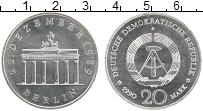 Изображение Монеты ГДР 20 марок 1990 Серебро UNC- Бранденбургские воро