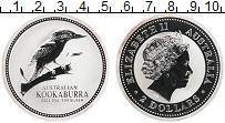 Изображение Монеты Австралия 2 доллара 2003 Серебро UNC- Кукабара