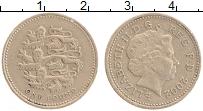 Изображение Монеты Великобритания 1 фунт 2002 Латунь XF Елизавета II