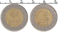 Изображение Монеты Португалия 100 эскудо 1990 Биметалл XF Педро Нуниш