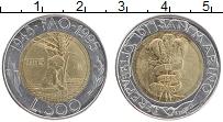 Изображение Монеты Сан-Марино 500 лир 1995 Биметалл UNC- 50 лет ФАО