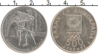 Изображение Монеты Греция 500 драхм 2000 Медно-никель UNC- Олимпиада в Афинах