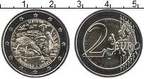 Изображение Мелочь Литва 2 евро 2021 Биметалл UNC Биосферный резерват
