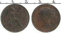 Изображение Монеты Великобритания 1 фартинг 1845 Медь XF Виктория