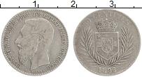Изображение Монеты Бельгийское Конго 50 сантим 1896 Серебро XF Леопольд II