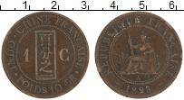 Изображение Монеты Индокитай 1 сантим 1885 Медь XF