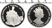Изображение Монеты Фолклендские острова 2 фунта 1996 Серебро Proof Виктория