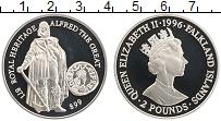 Изображение Монеты Фолклендские острова 2 фунта 1996 Серебро Proof Альфред